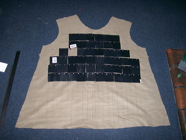 Make your own cheap armour - Brigandine style - How to